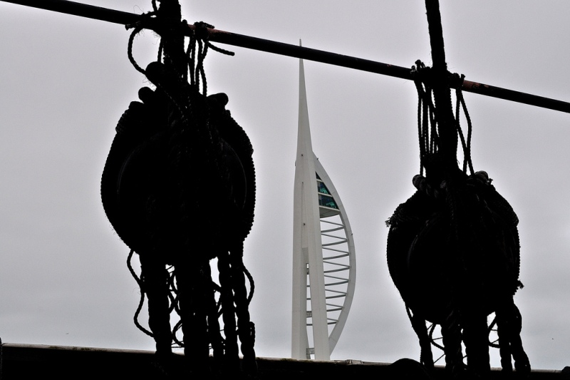 Spinnaker Tower from HMS Warrior