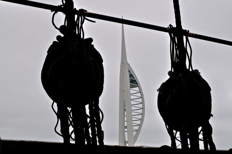 Spinnaker Tower from HMS Warrior