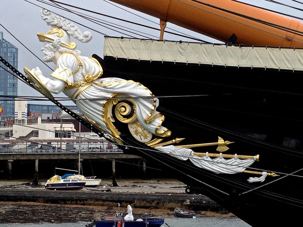 The figure head of HMS Warrior