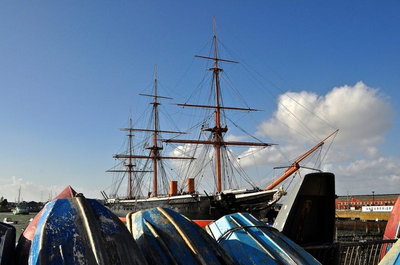 HMS Warrior from the Hard