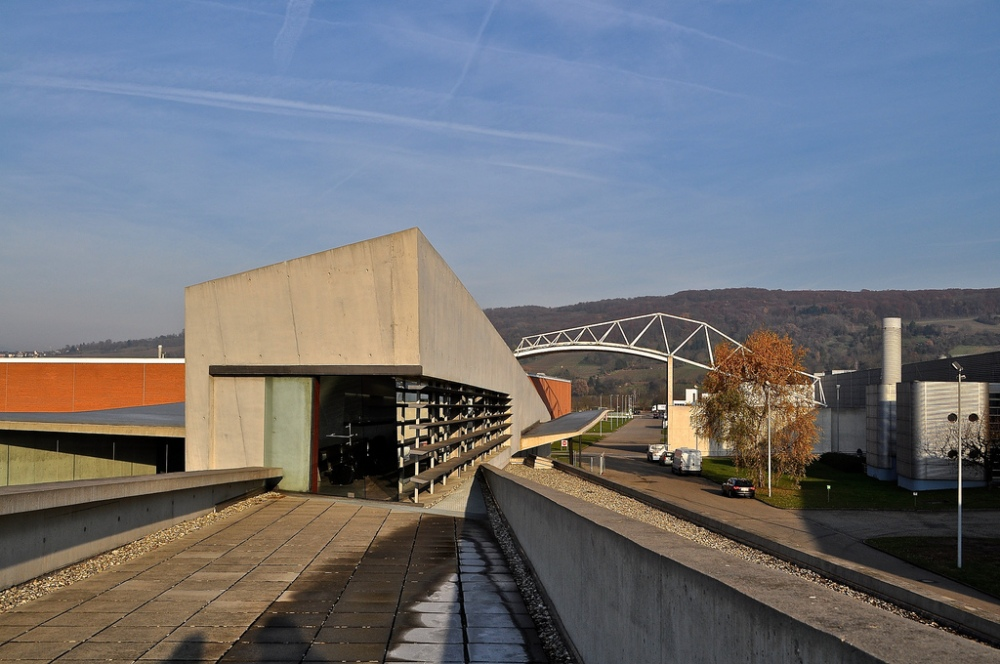 Zaha Hadid Fire Station - Vitra - from the balcony upstairs