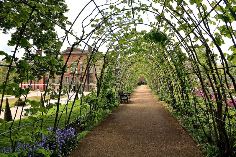 The new gardens at Kensington Palace