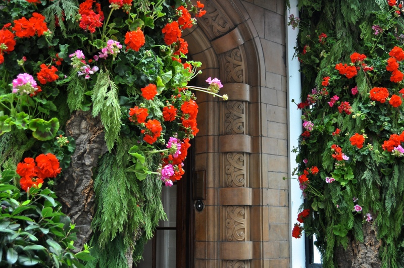 The Stafford entrance for Chelsea Flower Show