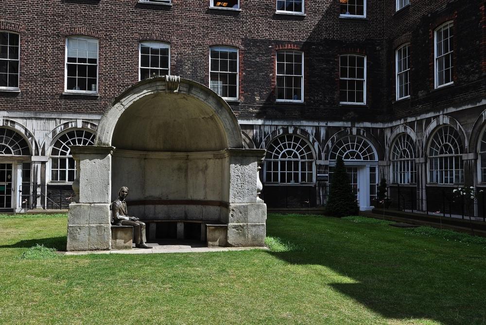 John Keats memorial at Guy's Hospital, Southwark