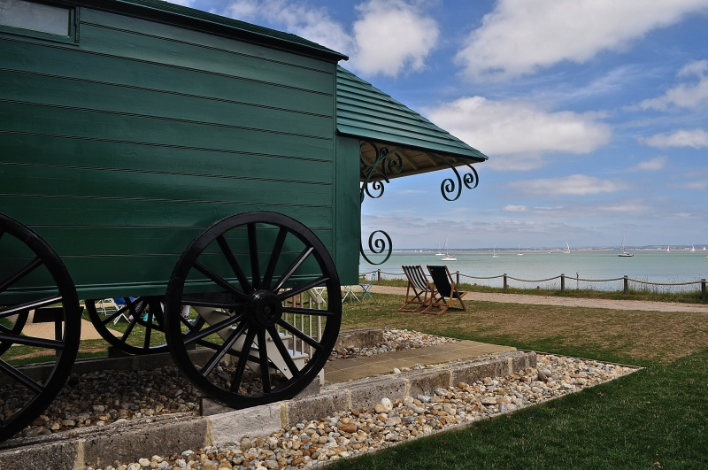 Queen Victoria's Bathing Machine at Osborne House