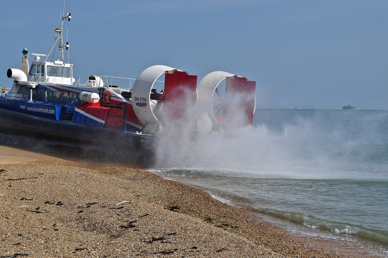 HoverTravel - taking off from Southsea Beach