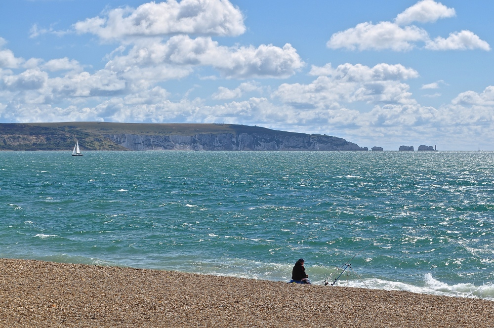 The Needles, Isle of Wight from Hurst Castle