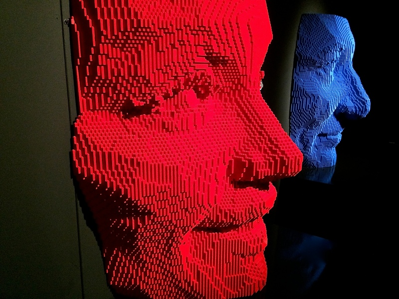 Masks -Nathan Sawaya - The Art of the Brick