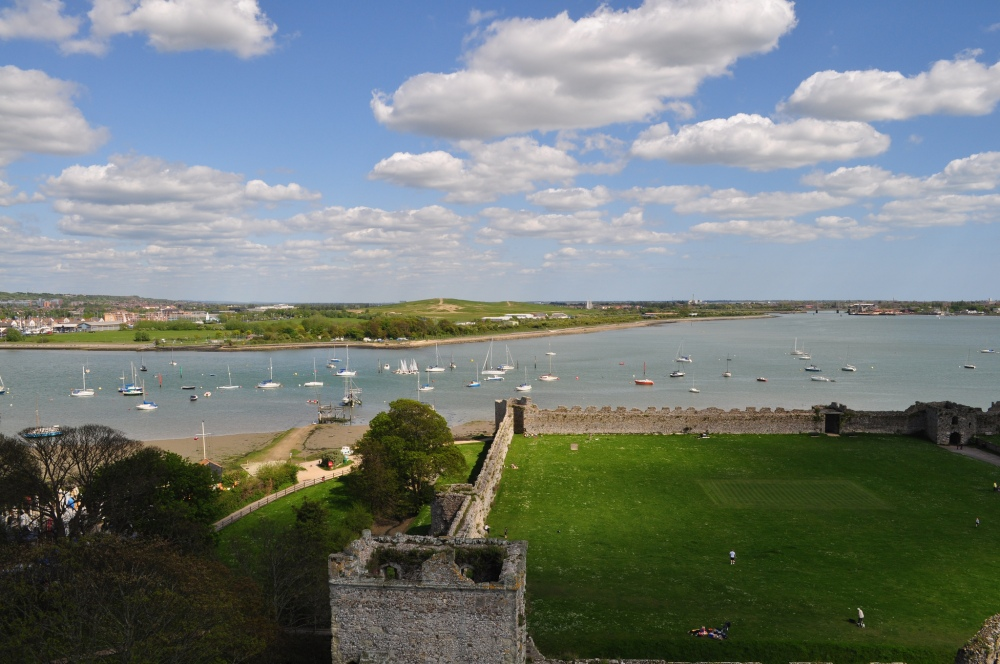 The Solent from Portchester Castle