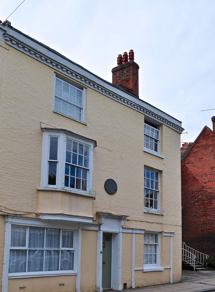 Plaque to Jane Austen in College Street, Winchester