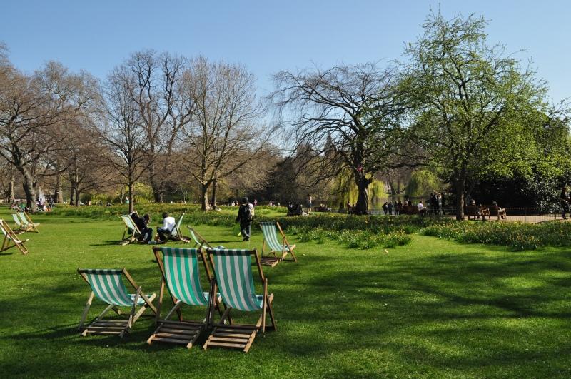 St James's Park, London - deckchairs