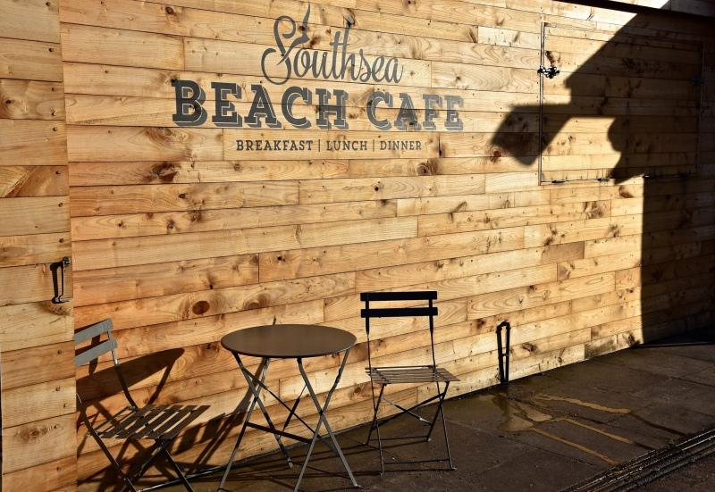 Southsea Beach Café by Sue Lowry