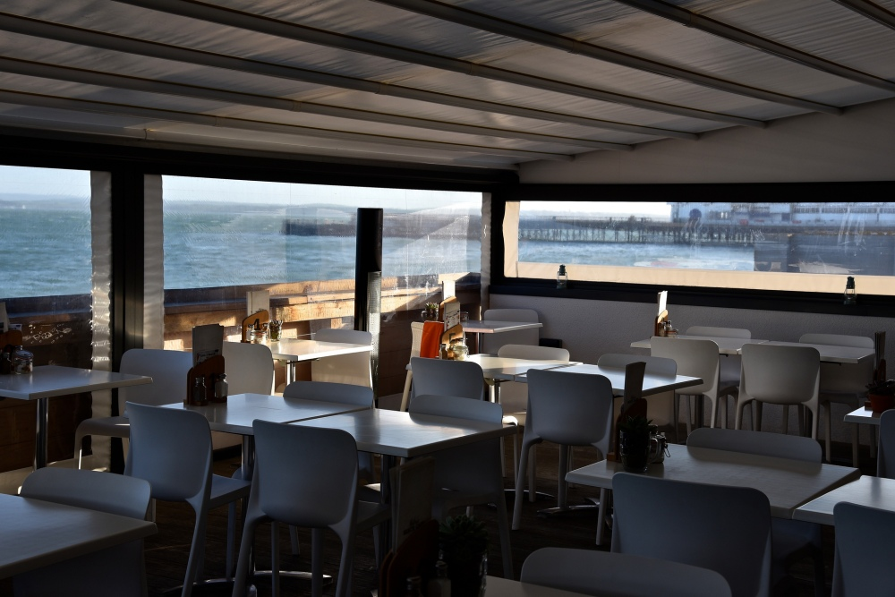 Southsea Beach Café by Sue Lowry