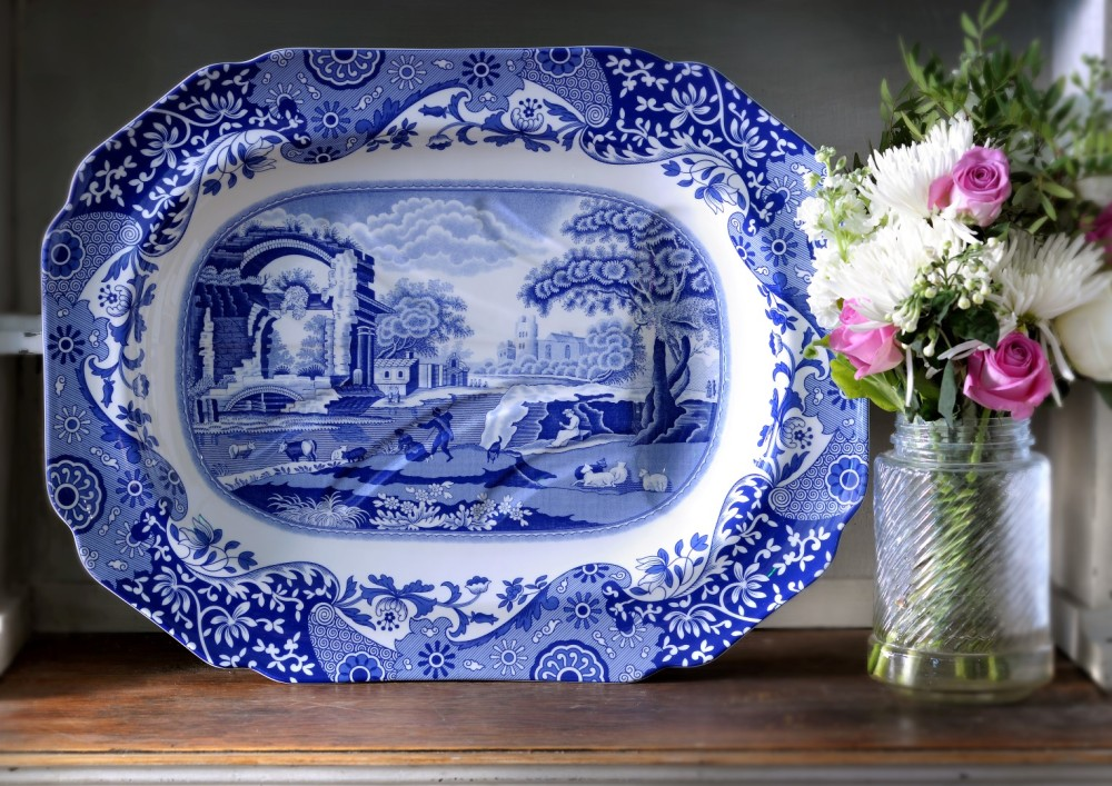 Blue Italian Platter (Large)