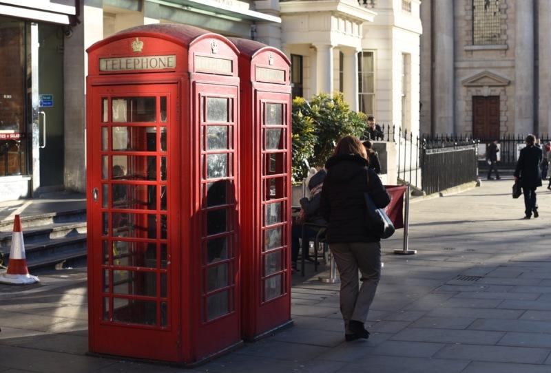 K6 telephone kiosks near Trafalgar Square by Sue Lowry