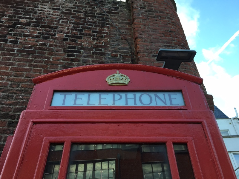 K6 telephone kiosk near the Hot Walls, Old Portsmouth by Sue Lowry