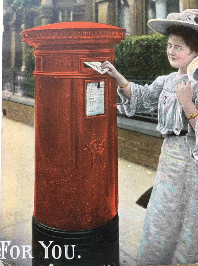 Popular postcard showing the Pillar Box