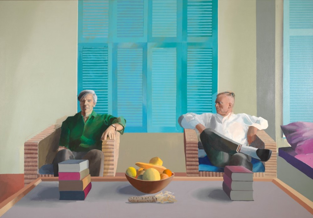 Christopher Isherwood and Don Bachardy 1968 Acrylic paint on canvas Private collection © David Hockney