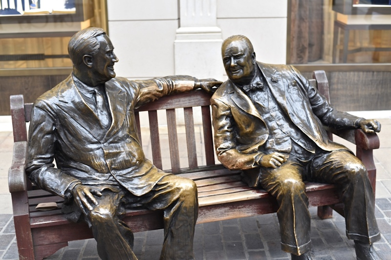 When Churchill met Roosevelt by Sue Lowry