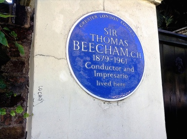 Beecham blue plaque by Sue Lowry