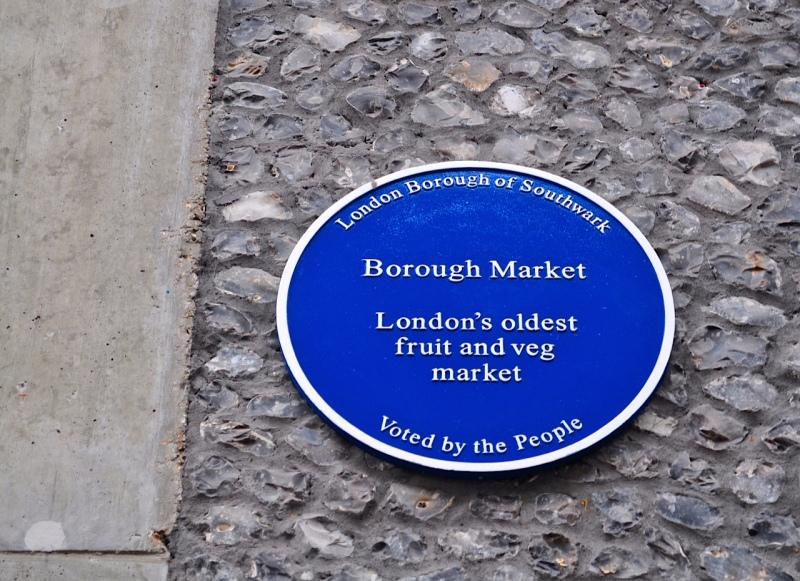Borough Market plaque, Southwark by Sue Lowry