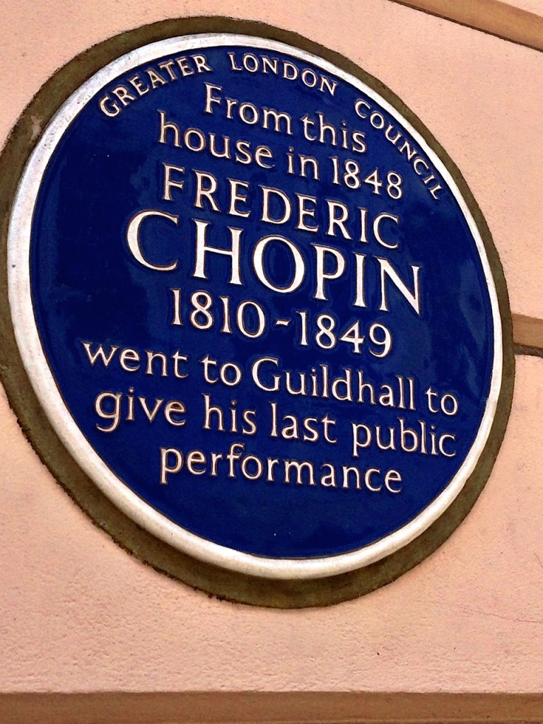 Chopin plaque by Sue Lowry