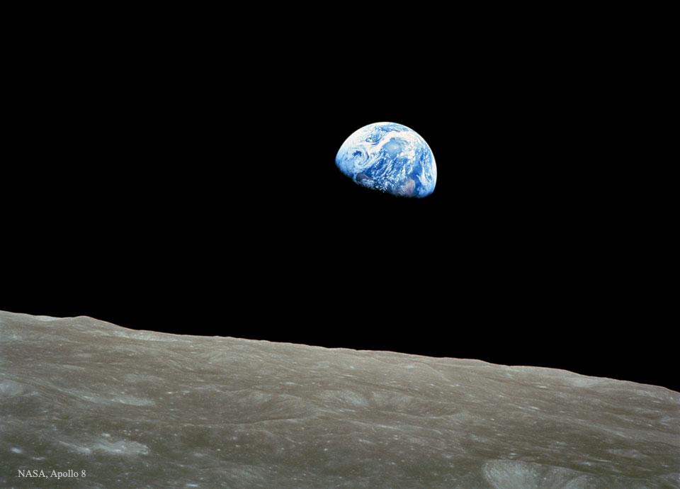 Earthrise - copyright NASA Apollo 8, taken by Bill Anders
